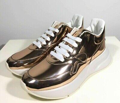 Brand-new Men's Alexander McQueen Rose Gold Oversized Runner Sneakers in US 11