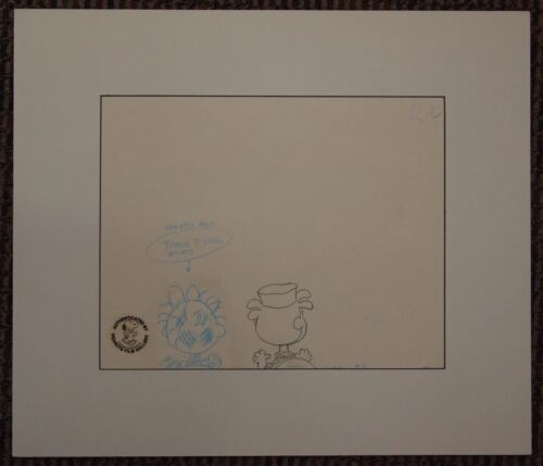 Peanuts Original Production Drawing PIGPEN Animation Art Film Gallery Seal
