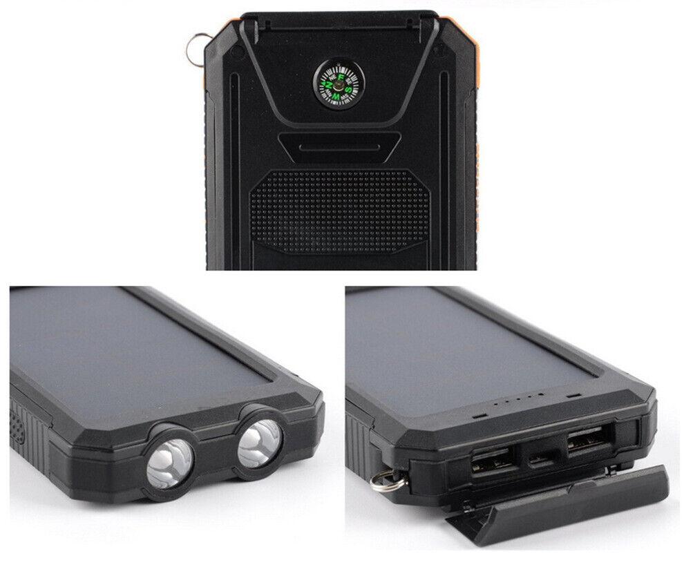 solar power bank 10000mah portable dual usb