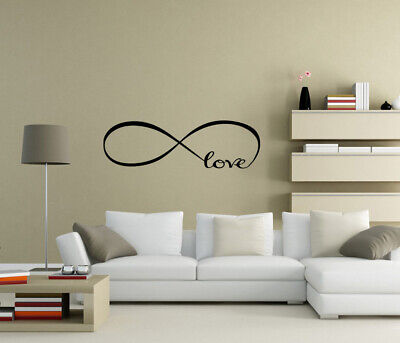 Infinite loop Love Wall Stickers Wall Art Home decor Decals Quote UK zx63