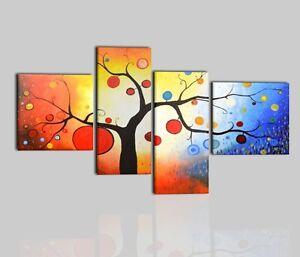Quadri moderni astratti albero dipinti a mano su tela for Quadri moderni astratti dipinti a mano