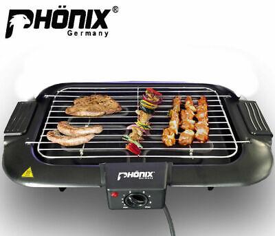 Phönix BBQ Parrilla de Mesa Eléctrica 2000 Vatios Barbacoa Con Termostato