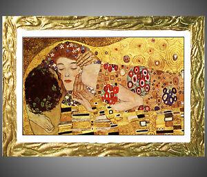 Quadro klimt bacio con cornice prodotto italiano cornici for Obi cornici per quadri