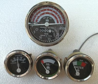 IH B250, B275, B414, 276, 354 Tractor Tachometer Oil  Temp  Ampere Gauge - Kit for sale  Shipping to Canada