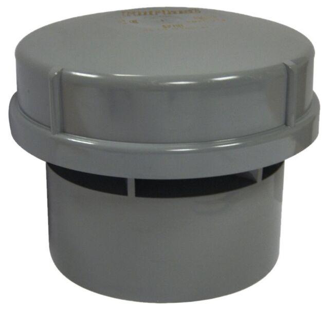 "Hepworth 4"" / 110mm air admittance valve in grey. Durgo valve AV110 / AF110"