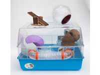 Hamster cage ferplast duna fun + accessories + toys in good condition + small animal Travel carrier