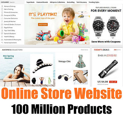 Website   Online Ecommerce Store   100 Million Goods   Home Business   For Sale