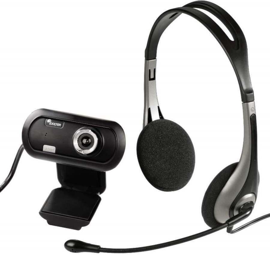 Hama Headset + USB HD Webcam Kamera für Skype MSN ICQ Yahoo Chat YouTube PC etc