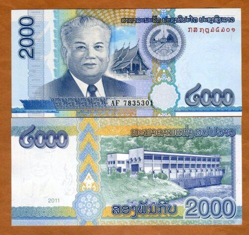 Lao / Laos, 2000 (2,000) Kip, 2011, P-41, UNC