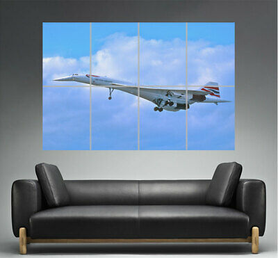 Concorde British Airways Flying 02 Wall Poster Grand format A0 Large Print