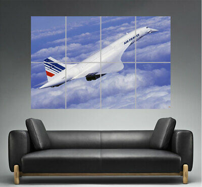 Avion Concorde Flying Wall Poster Grand format A0 Large Print