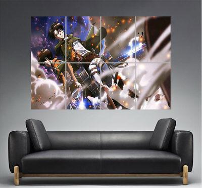 der Angriff Titanen Attack auf Titan Eren jager & Levi Plakat Manga format A0