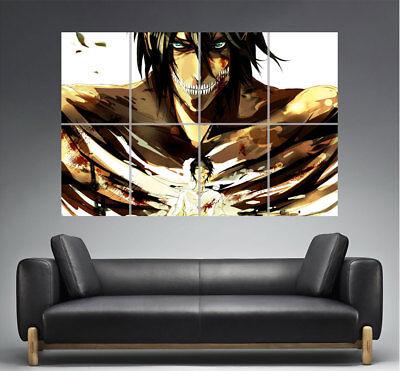 der Angriff Titanen Attack auf Titan Eren jager 02 Art Plakat Manga format A0