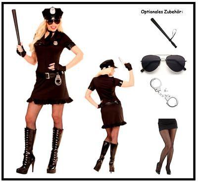 Polizistin Polizei Kleid Damen Kostüm Police Girl Uniform Karneval Mottoparty, K ()