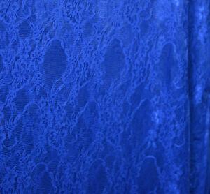 tissu dentelle elastique polyester elasthane bleu royal au metre ebay. Black Bedroom Furniture Sets. Home Design Ideas