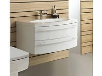 Hudson Reed Vanguard wall hung cabinet and basin