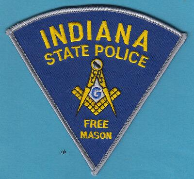 INDIANA STATE  POLICE  FREE MASON MASONIC SHOULDER PATCH