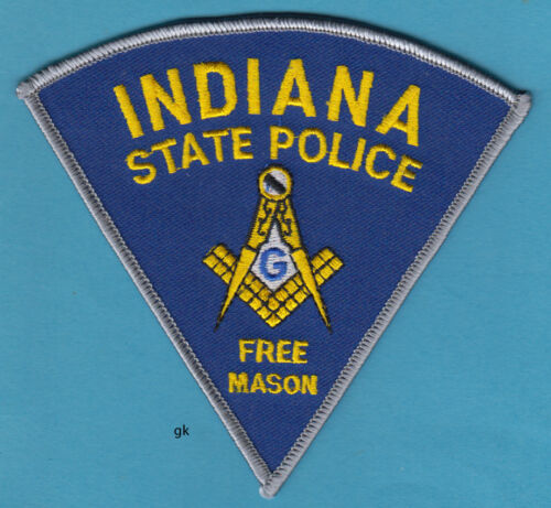 INDIANA STATE  POLICE  FREE MASON MASONIC SHOULDER PATCH