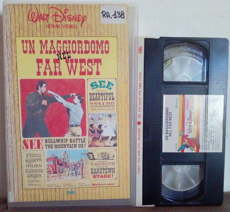 VHS FILM Ita Walt Disney UN MAGGIORDOMO NEL FAR WEST ex nolo no dvd(VH21)