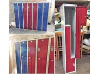METAL LOCKERS X 7 AVAILABLE
