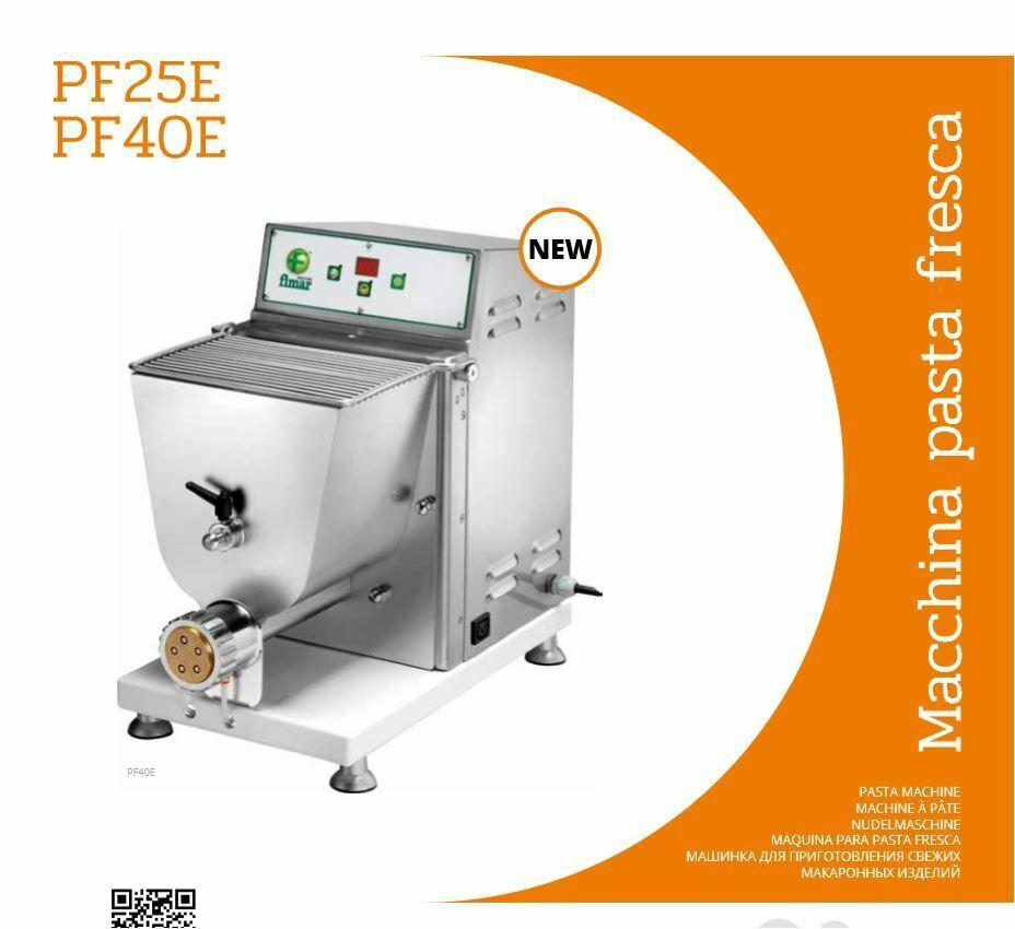 MACCHINA PASTA F. PF40E PF25E trifase a scelta menù tendina monofase e accessori