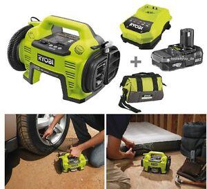 Ryobi ONE+ Akku Kompressor Pumpe R18I-L13S + Akku 18V/1.3Ah + Ladegerät + Tasche