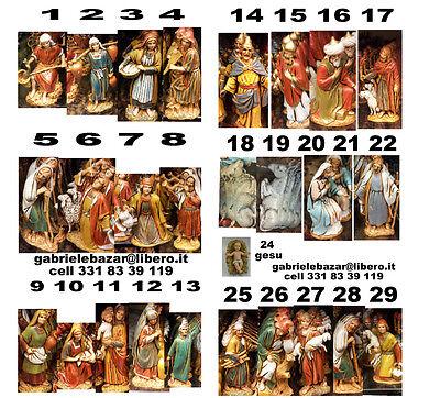 27 Pastoren LANDI 6,5 CM Kostüme Historiker Hirten Krippe Kinderkrippe Bergers