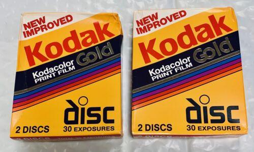 Kodak Disc Film Kodacolor Gold 2-15 Sealed Film Disks - 2pks - Expired