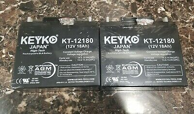 2 NEW 12v 18ah - Hi Rate Long Range AGM Batteries BEST ON EBAY ON