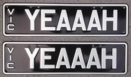 'YEAAAH' Personalised Plates Vic