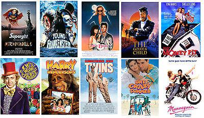 Retro 80's movie poster set  retro party supplies 80's decorations