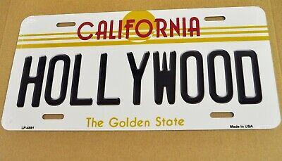 USA Auto Nummernschild License Plate Deko Blechschild California Hollywood