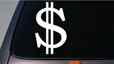 DOLLAR SIGN Money Cash Bling Car Truck Laptop Vinyl Decal Window Sticker (Bling Money Dollar Sign)
