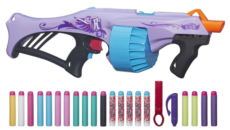 NERF GUN REBELLE FEARLESS FIRE BLASTER SHOOTER XMAS GIFT TOY GIRLS + 20  DARTS