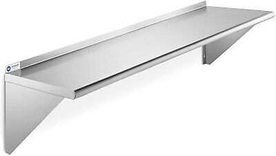 New - Gridmann Nsf Stainless Steel 12 X 60 Kitchen Wall Mount Shelf Commercial