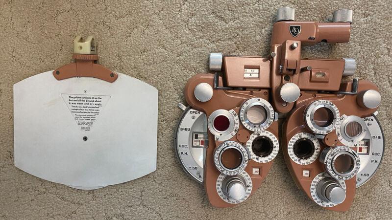 American Optical Minus Cylinder Phoropter Model 11320 AO Optometry Phoroptor