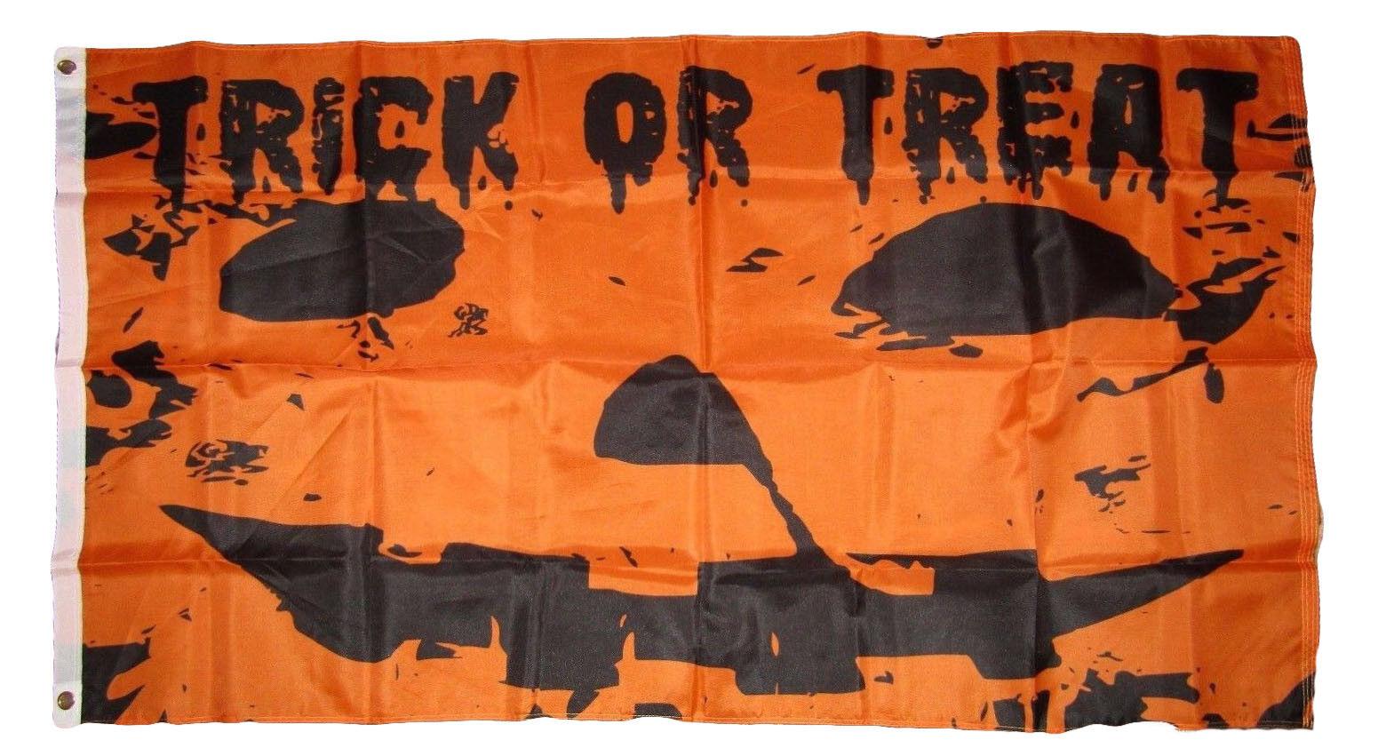 3x5 Happy Halloween Trick or Treat Pumpkin Jack o Lantern Fl