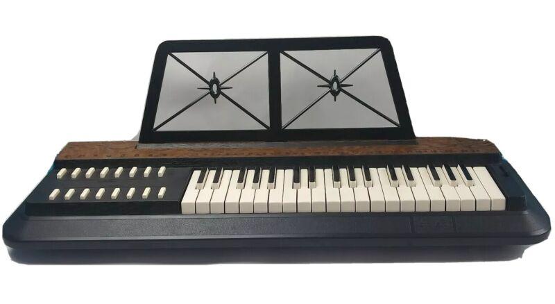 Vintage Graber Rogg Electric Chord Organ CTX 1300 Portable Works Faux Wood Grain