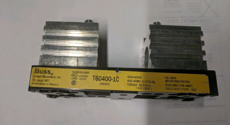 BUSSMAN T60400-1C FUSE BLOCK