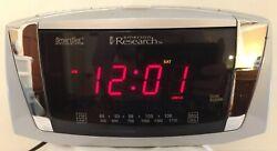 Emerson Research CKS5055S SmartSet Dual Alarm Clock AM/FM Radio LARGE DISPLAY
