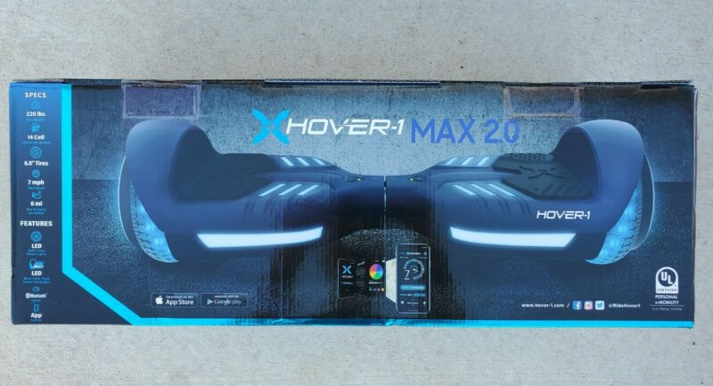 New Navy Hover-1 Max 2.0 LED Multi Light Balancing Electric Scooter UL Cert