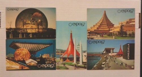 EXPO 67 Lot of 5 Postcards 1967 WORLD