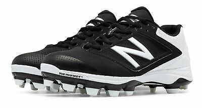 New Balance Low-Cut 4040 Tpu Softball Cleat Womens Shoes Black With White (Low Womens Shoes)