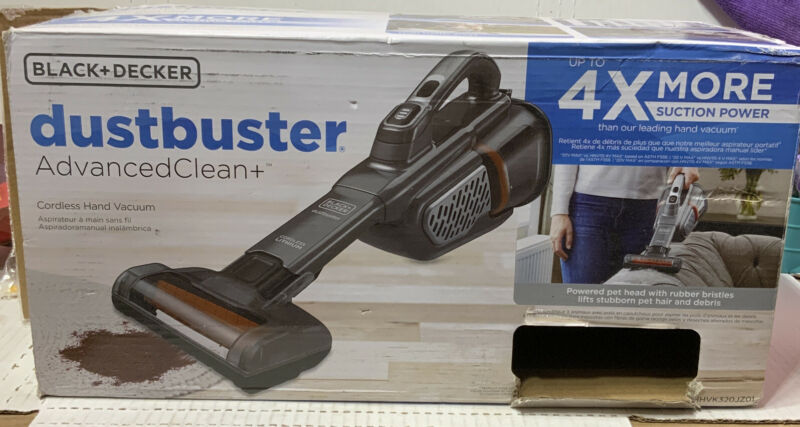 📀 BLACK+DECKER : Dustbuster Advanced Clean Cordless Hand Vacuum- Used