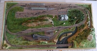 """Marklin Z Gauge Diorama Train Layout,57"""" x 30"""", with wood box and lid for sale  Tucson"""