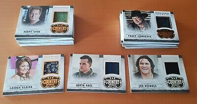 2014 Panini Country Music Costumes cards Lot /499 or Less (18 - Country Music Costumes