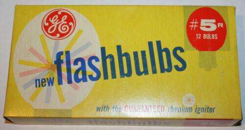 Vtg. General Electric GE 5R Photo Flash Bulbs - NOS - 12 Bulb Packs - ca. 1950