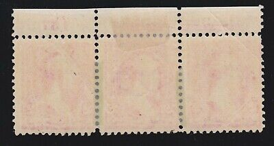 US 267 2c Washington Mint Plt Strip Of 3 W/ Foreign Obj Ink Void EFO F-VF OG H - $65.65