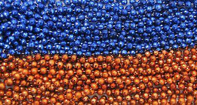 Orange Mardi Gras Beads (2 Dozen Mardi Gras Beads BLUE/BURNT ORANGE Parade 33