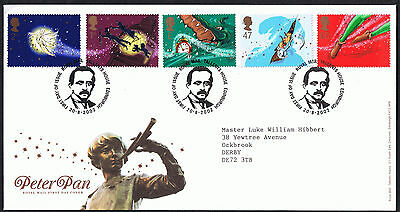 Peter Pan 2002 First Day Cover  SG2304 to SG2308 Tallents House Edinburgh Cancel